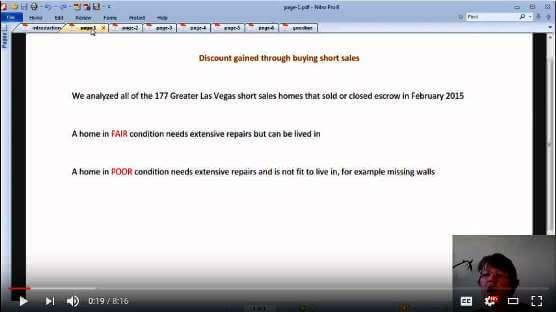 Do Las Vegas short sales provide for big discounts video